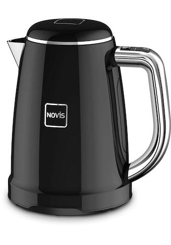 NOVIS Wasserkocher »KTC1 schwarz«, 1,6 l, 2400 W, mit elektronischer Temperatureinstellung, Metallgehäuse kaufen
