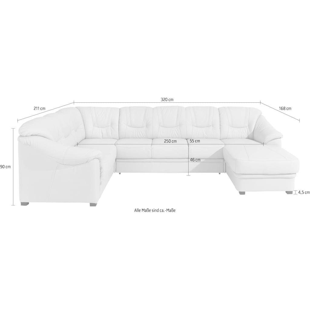 sit&more Wohnlandschaft, wahlweise mit Bettfunktion, inklusive Federkern, frei im Raum stellbar
