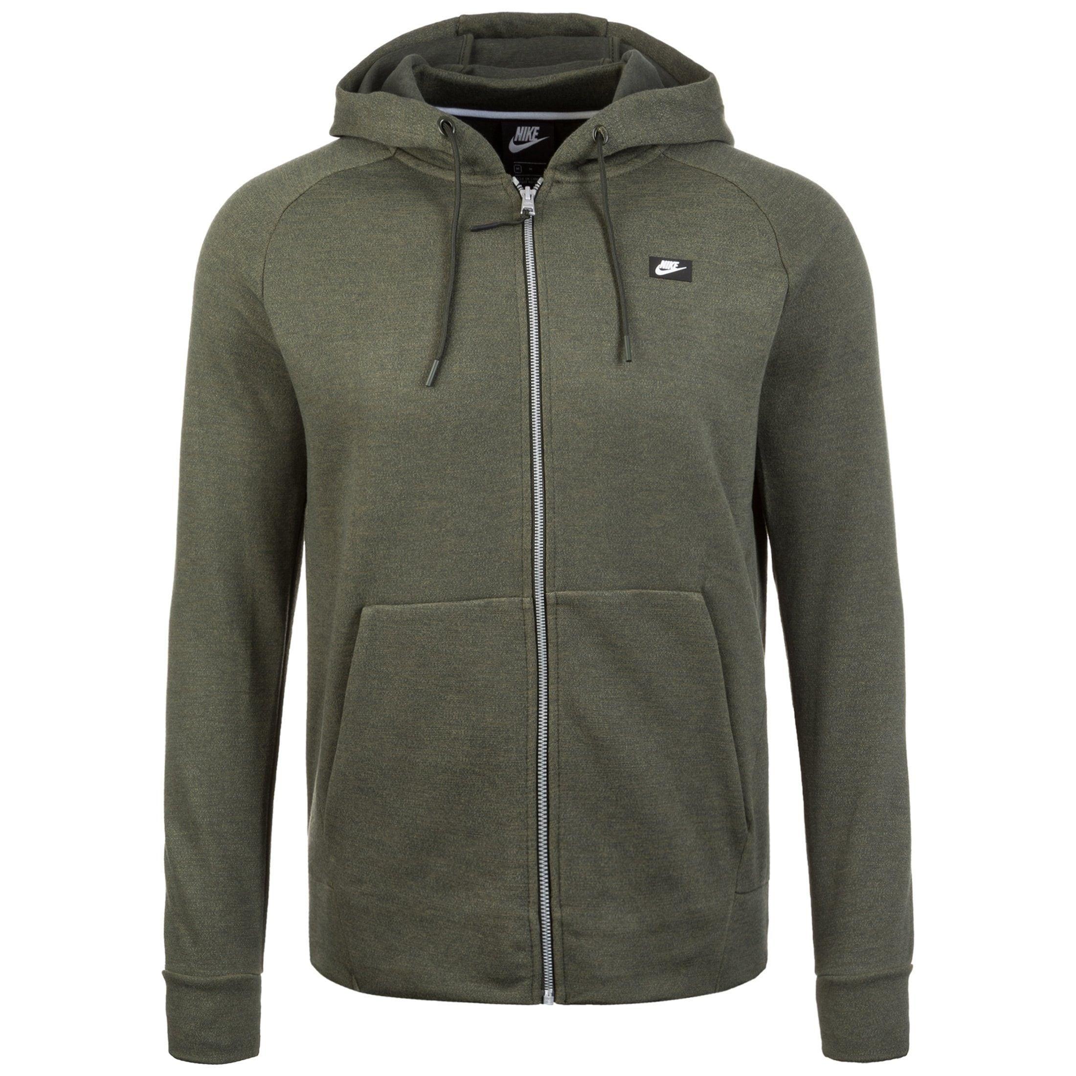 Nike Sportswear Kapuzensweatjacke Optic Fleece | Sportbekleidung > Sportjacken > Sonstige Sportjacken | Grün | Fleece - Gummi | Nike Sportswear
