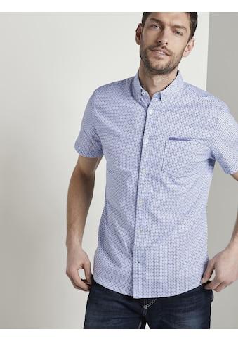 TOM TAILOR Kurzarmhemd »Gemustertes Kurzarm-Hemd mit Brusttasche« kaufen