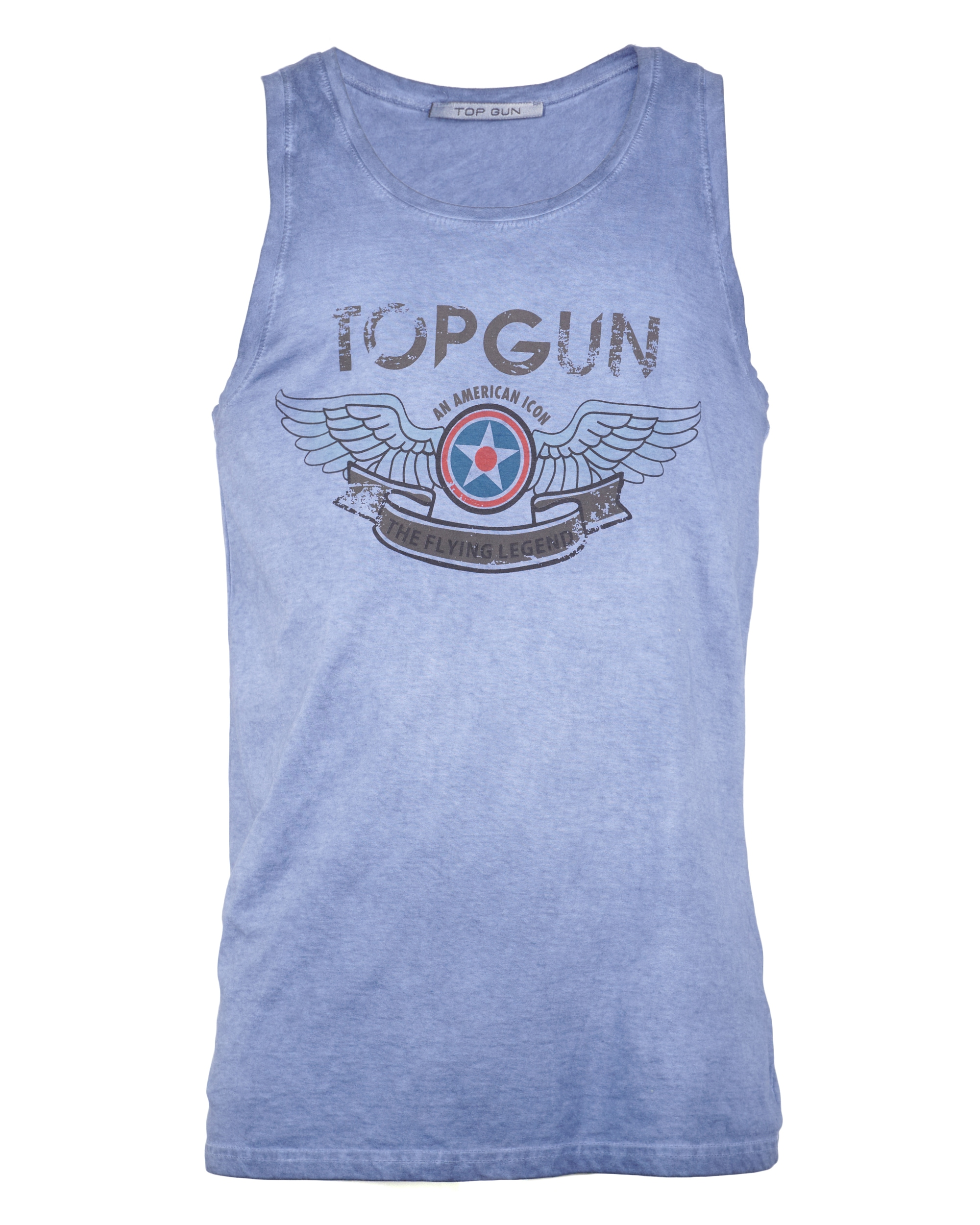 TOP GUN Muscleshirt Flap blau Herren Tank Tops Shirts