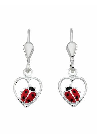Adelia´s Paar Ohrhänger »925 Silber Ohrringe / Ohrhänger Marienkäfer«, Silberschmuck für Damen kaufen