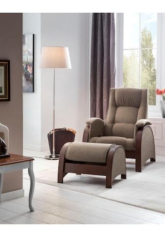 DELAVITA Relaxsessel »Kander«, mit Schaukelfunktion und Schaukelhocker, 3stufiger... kaufen