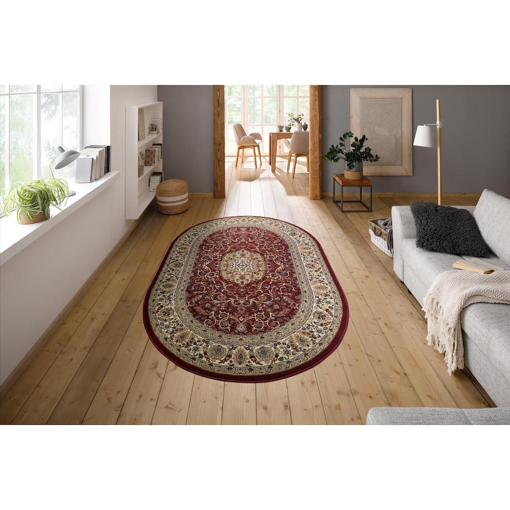 my home Teppich »Nevio«, oval, 8 mm Höhe, Orientalisches Dekor, Wohnzimmer