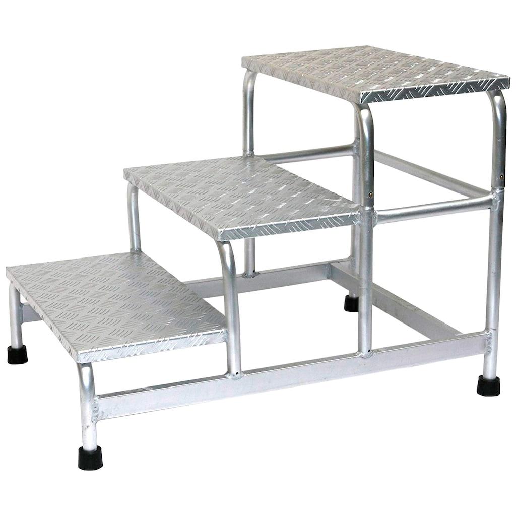 SZ METALL Trittleiter, Aluminium, 3-stufig
