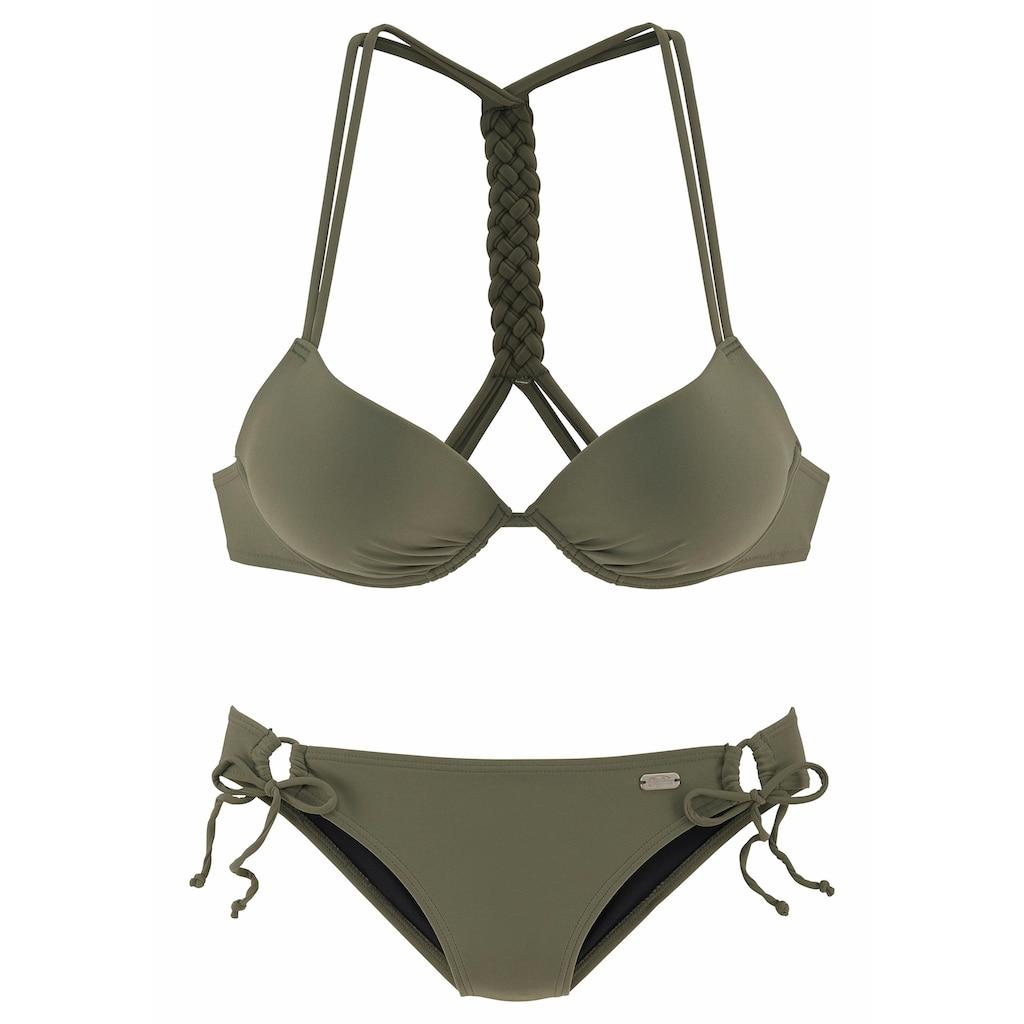 Buffalo Push-Up-Bikini, mit geflochtenem Rückendetail