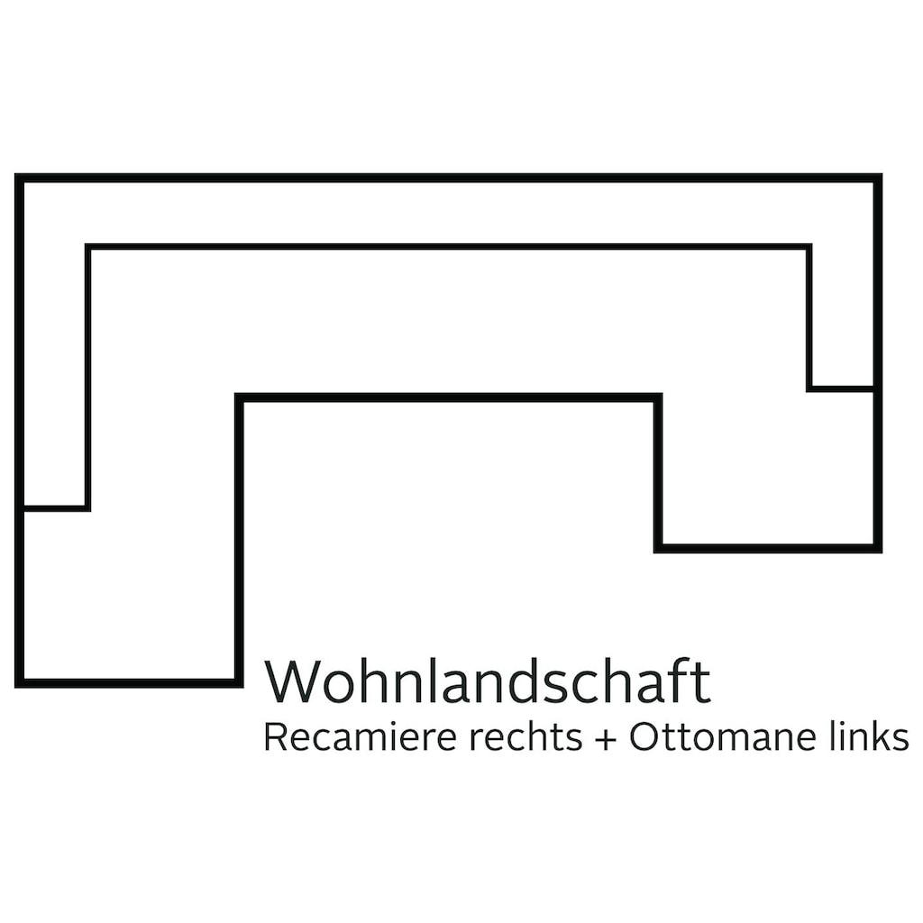 DOMO collection Wohnlandschaft, wahlweise mit Bettfunktion