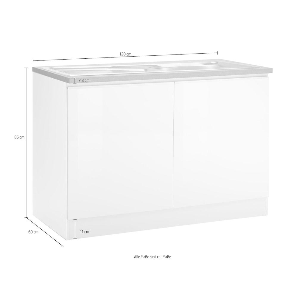 HELD MÖBEL Spülenschrank »Ohio«, Breite 120 cm