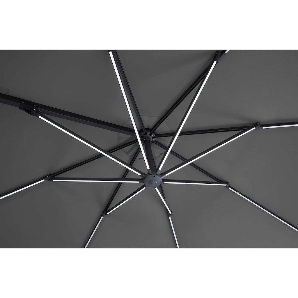 garten gut Ampelschirm »Paris«, mit Solarbetriebener LED Beleuchtung