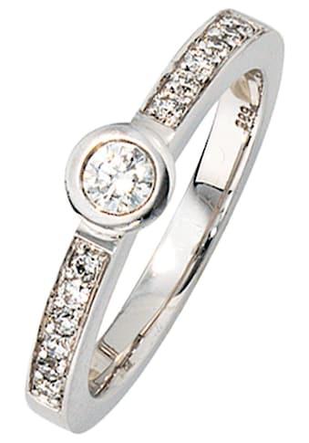 JOBO Diamantring, 585 Weißgold mit 13 Diamanten kaufen
