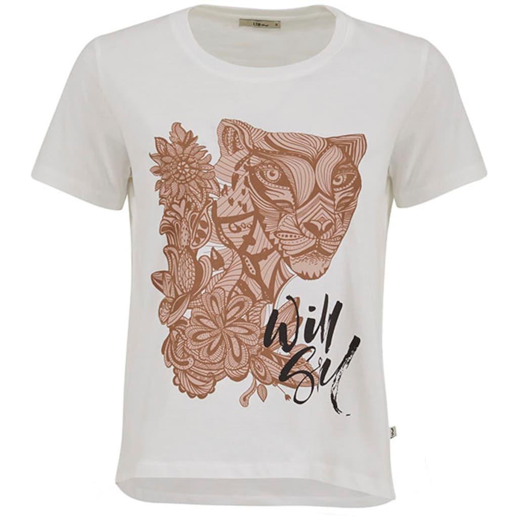 LTB Kurzarmshirt »LISEDA«, mit floralem Tierprint
