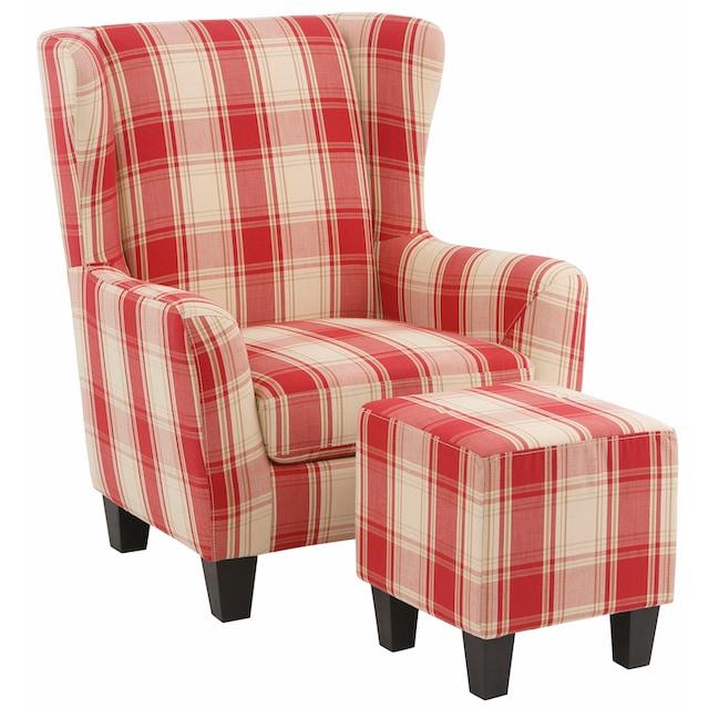 Home affaire Sessel »Chilly« (Set, 2-tlg., bestehend aus Sessel und Hocker)