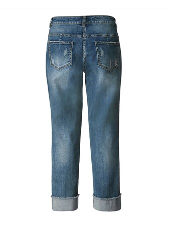 Sara Lindholm by Happy Size Slim Fit Jeans knöchellang mit Pailletten-Applikation kaufen