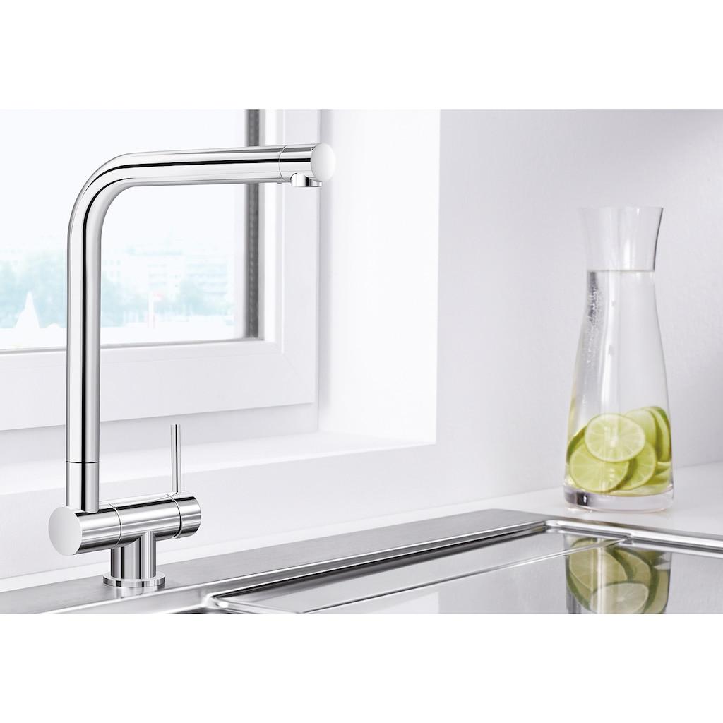 Blanco Küchenarmatur »LARESSA-F Hebel rechts«, Hochdruck, klappbare Vorfensterarmatur