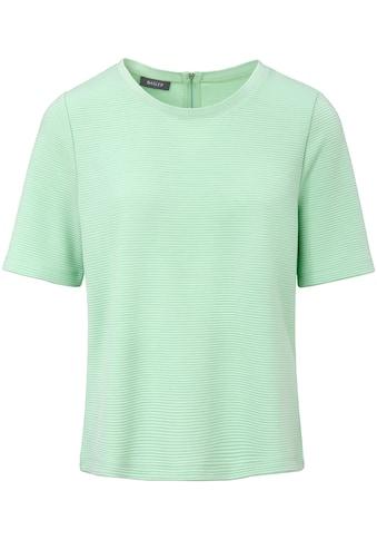 Basler Shirt in Rippstrick - Optik mit Reißverschluss kaufen