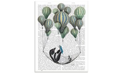 Artland Glasbild »Pinguin in Schwebehängematte«, Vögel, (1 St.) kaufen