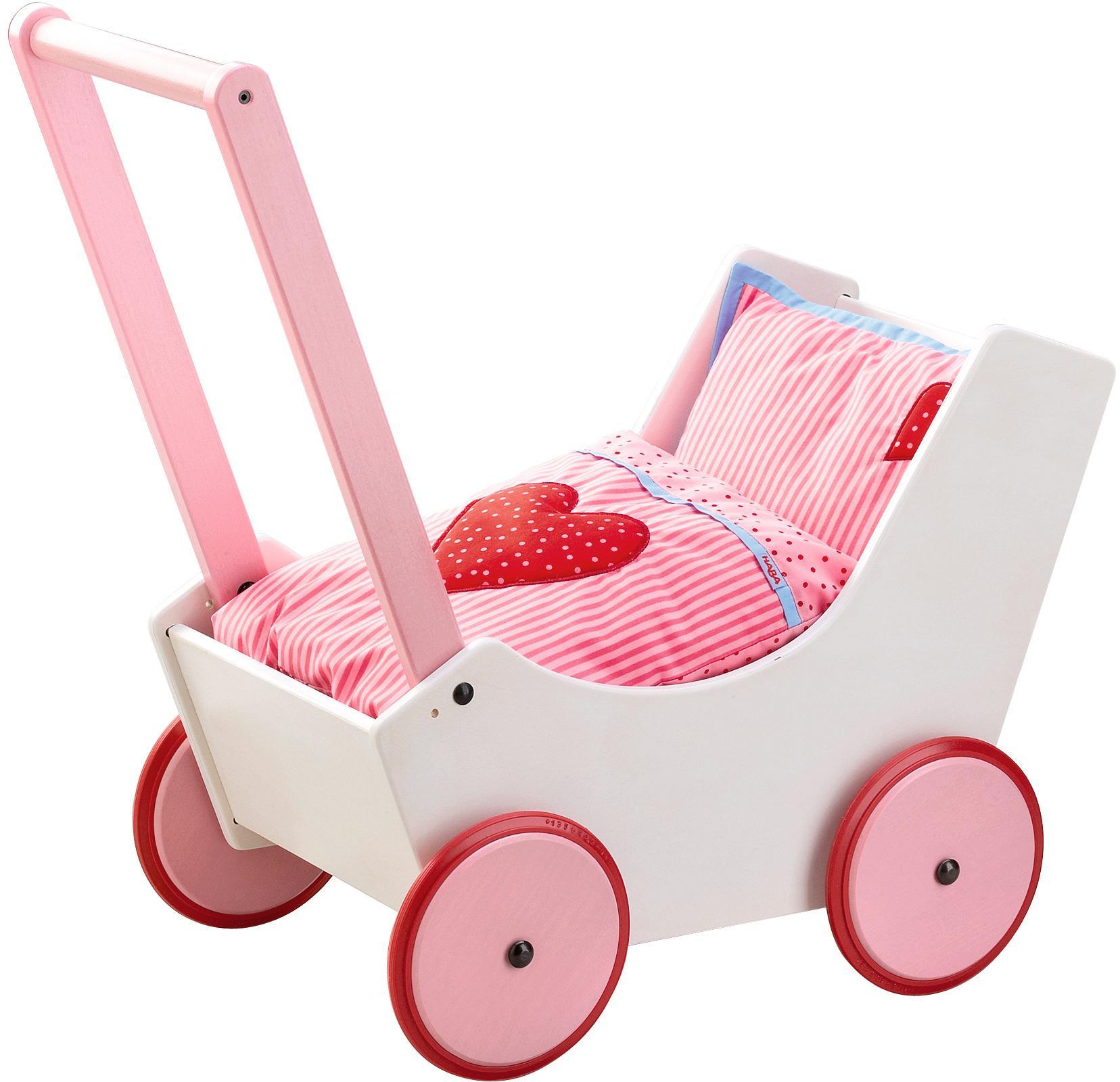 """Haba Puppenwagen """"Herzen"""" Kindermode/Spielzeug/Puppen/Puppenwagen & -trage"""