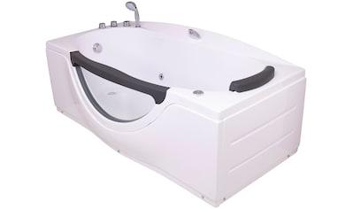 Sanotechnik Whirlpool-Badewanne »NASSAU«, 170/90/68 cm, Whirlpool mit Fenster kaufen