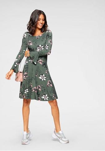 Laura Scott Jerseykleid, mit Volant am Ärmel - NEUE FARBEN kaufen
