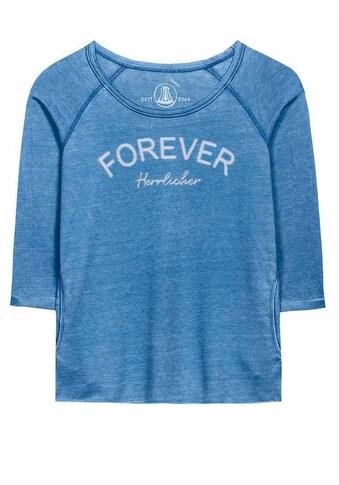 Herrlicher T-Shirt mit trendigem Rollsaum kaufen