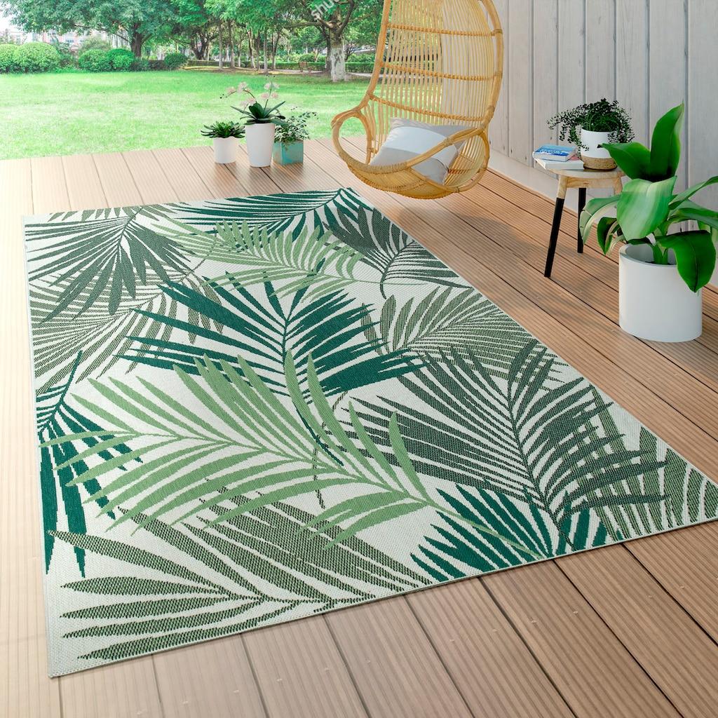 Paco Home Teppich »Ostende 534«, rechteckig, 5 mm Höhe, In- und Outdoor geeignet, Wohnzimmer