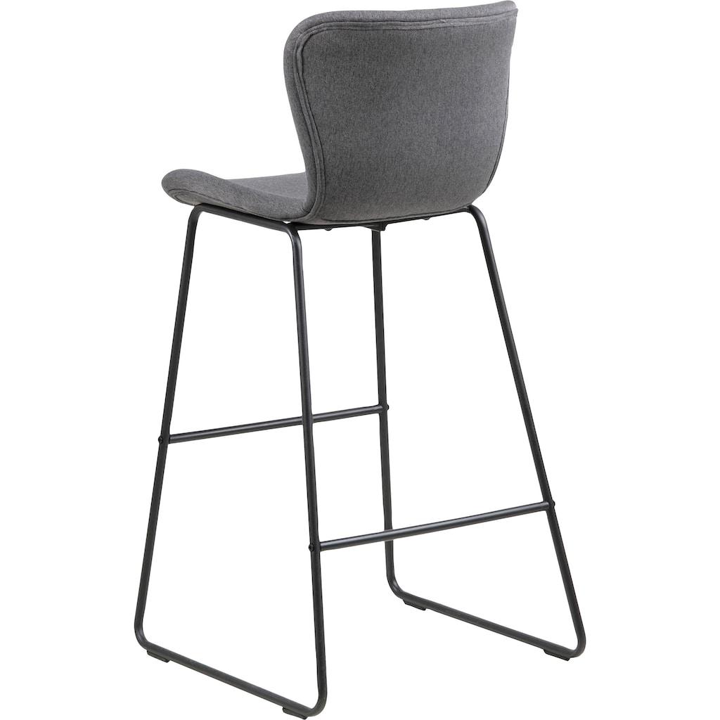 andas Bistrostuhl »Batilda«, 2er Set, mit einer schönen Polsterung und einer Fußstütze, sowie schöne Metallbeine, Sitzhöhe 65 cm