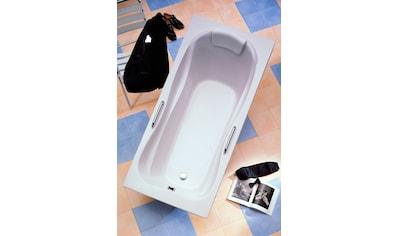 OTTOFOND Badewanne »Jamaica«, mit Fußgestell, Ablaufgarnitur, Nackenkissen und Griffe kaufen