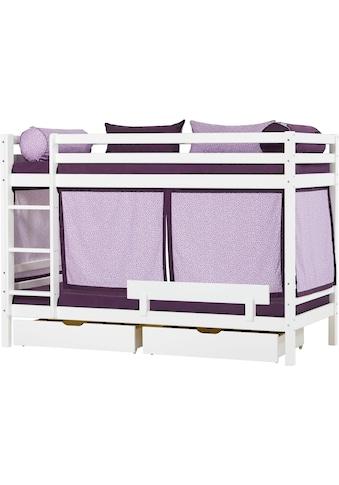Hoppekids Etagenbett »Beautiful Bloom«, (Set, 4 St., Bett, Vorhang und zwei Matratzen) kaufen