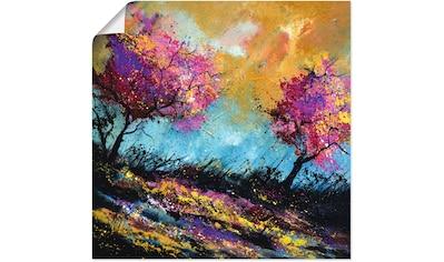 Artland Wandbild »Herbst-Eichen«, Wiesen & Bäume, (1 St.), in vielen Größen &... kaufen
