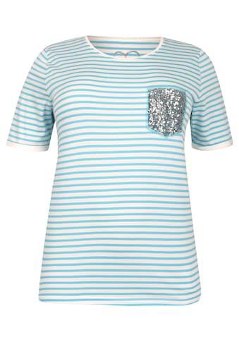 VIA APPIA DUE Sportives T - Shirt mit Pailletten - Patch Plus Size kaufen