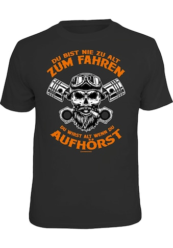 Rahmenlos T-Shirt mit coolem Biker-Print kaufen