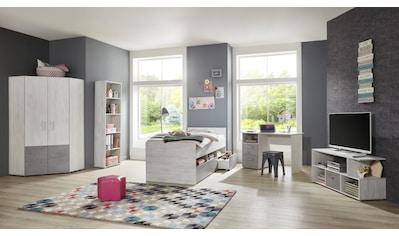 arthur berndt Jugendzimmer - Set »Insa« (Set, 5 - tlg Bett + Eckkleiderschrank + Schreibtisch + Standregal + Lowboard) kaufen