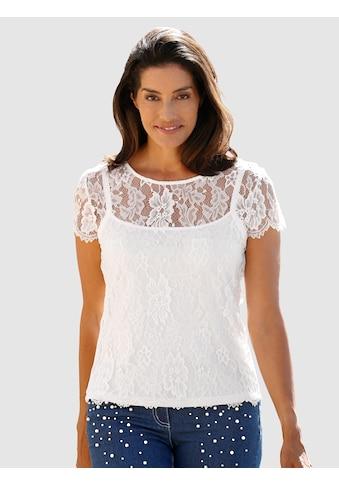 Laura Kent Spitzenshirt in modischer 2in1 Optik kaufen