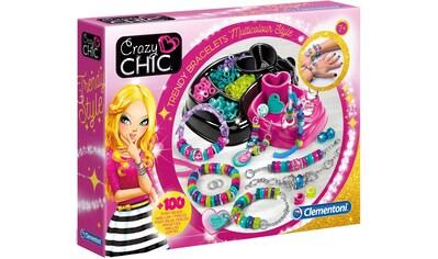 Clementoni® Kreativset »Crazy Chic - Trendige Perlenarmbänder«, (Set), Auch als... kaufen