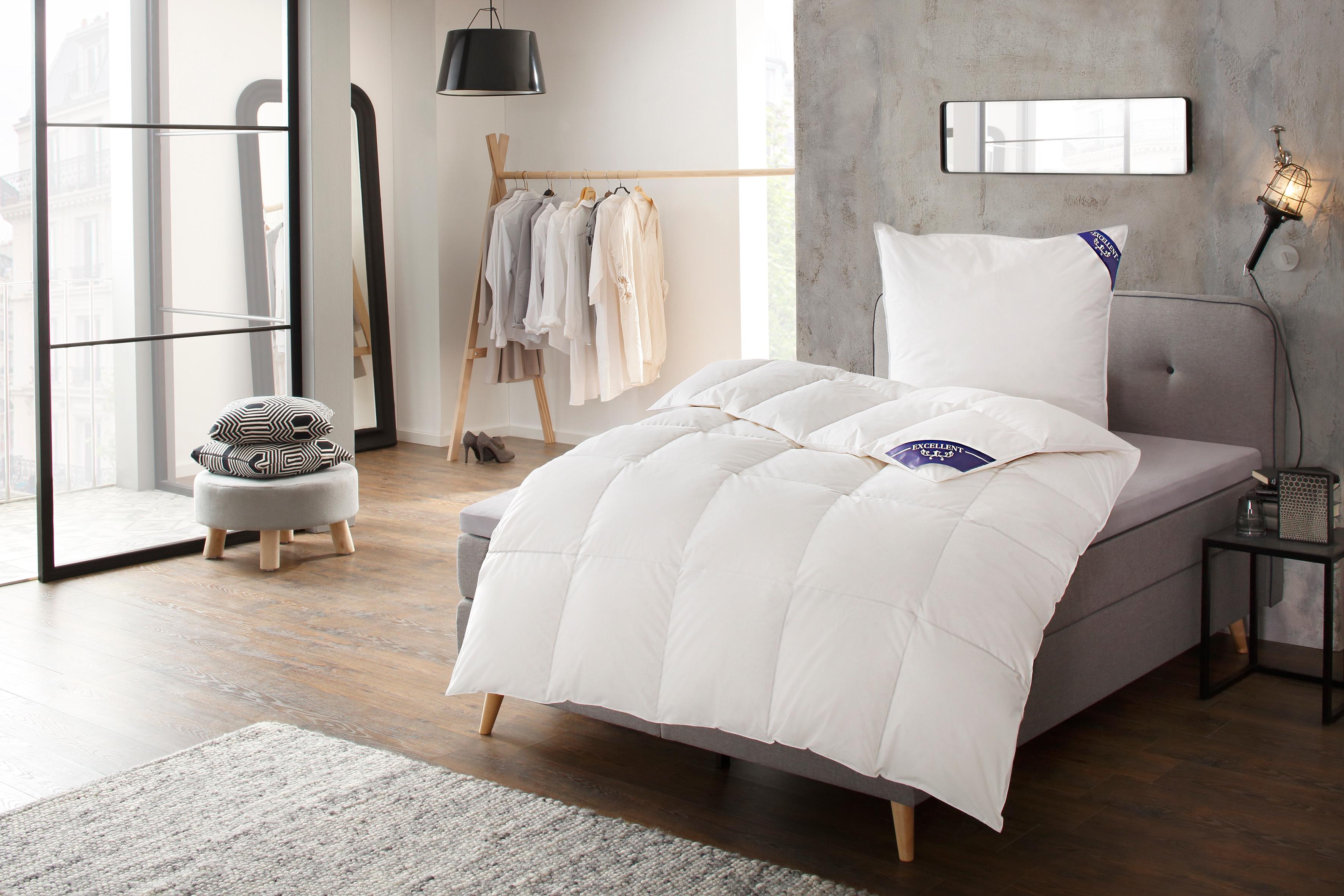 Daunenbettdecke Komfort Excellent normal Füllung: 60% Daunen 40% Federn Bezug: 100% Baumwolle