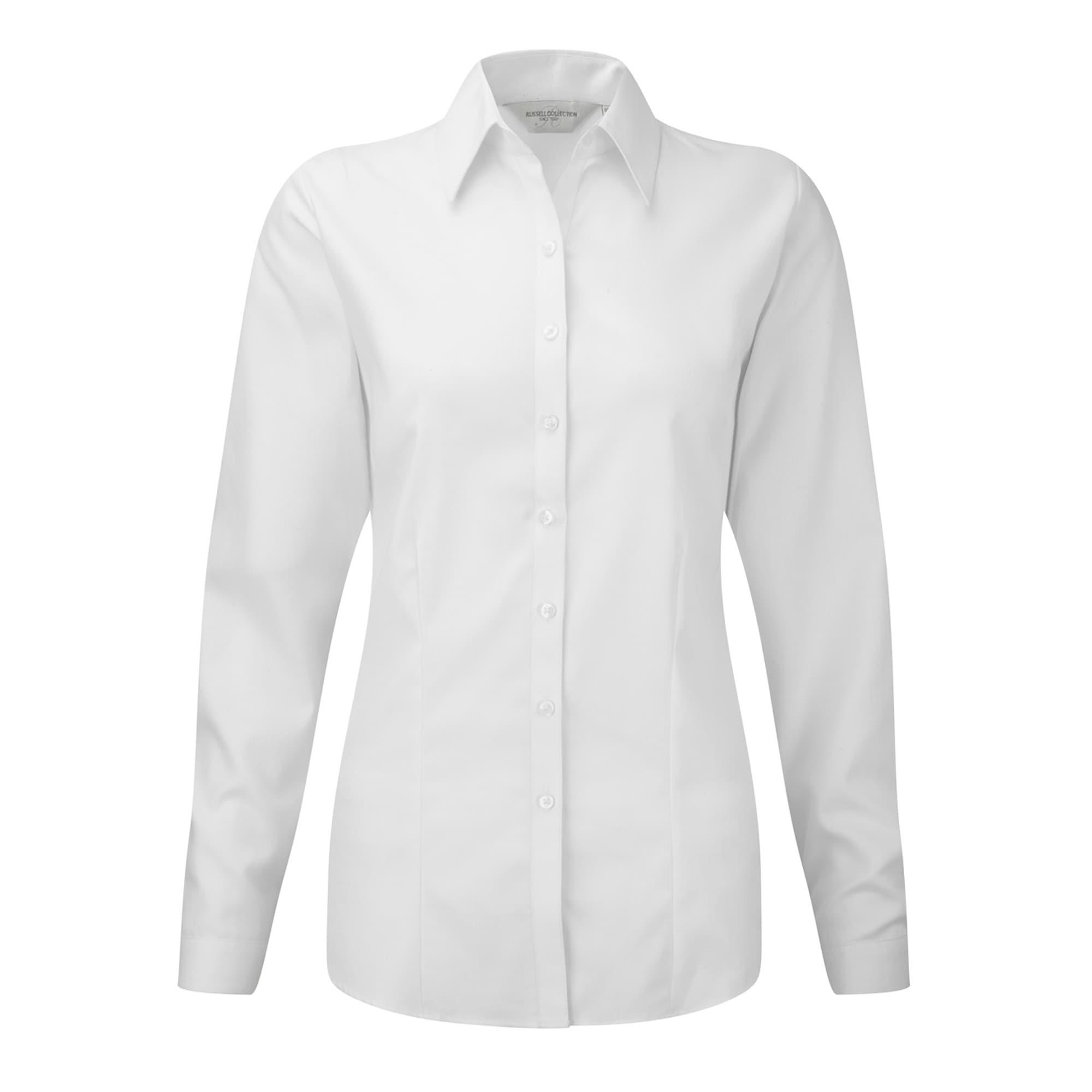 Russell Langarmbluse Damen Bluse / Hemd mit dezentem Fischgrätenmuster