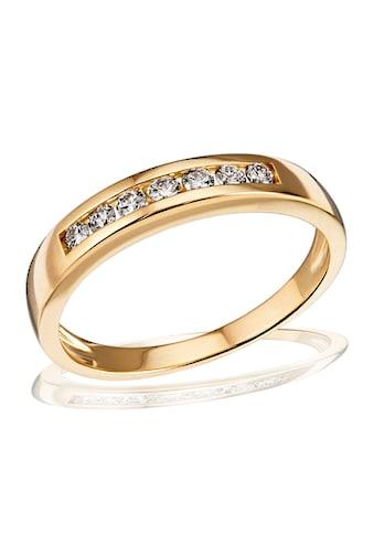 goldmaid Damenring Memoire 585/- Gelbgold 7 Brillanten 0,24 ct. kaufen