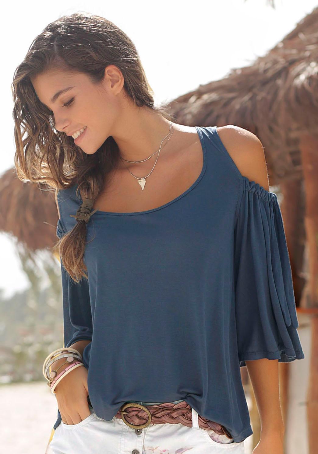 LASCANA Rundhalsshirt   Bekleidung > Shirts > Rundhalsshirts   Lascana