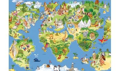Papermoon Fototapete »Kids World Map« kaufen