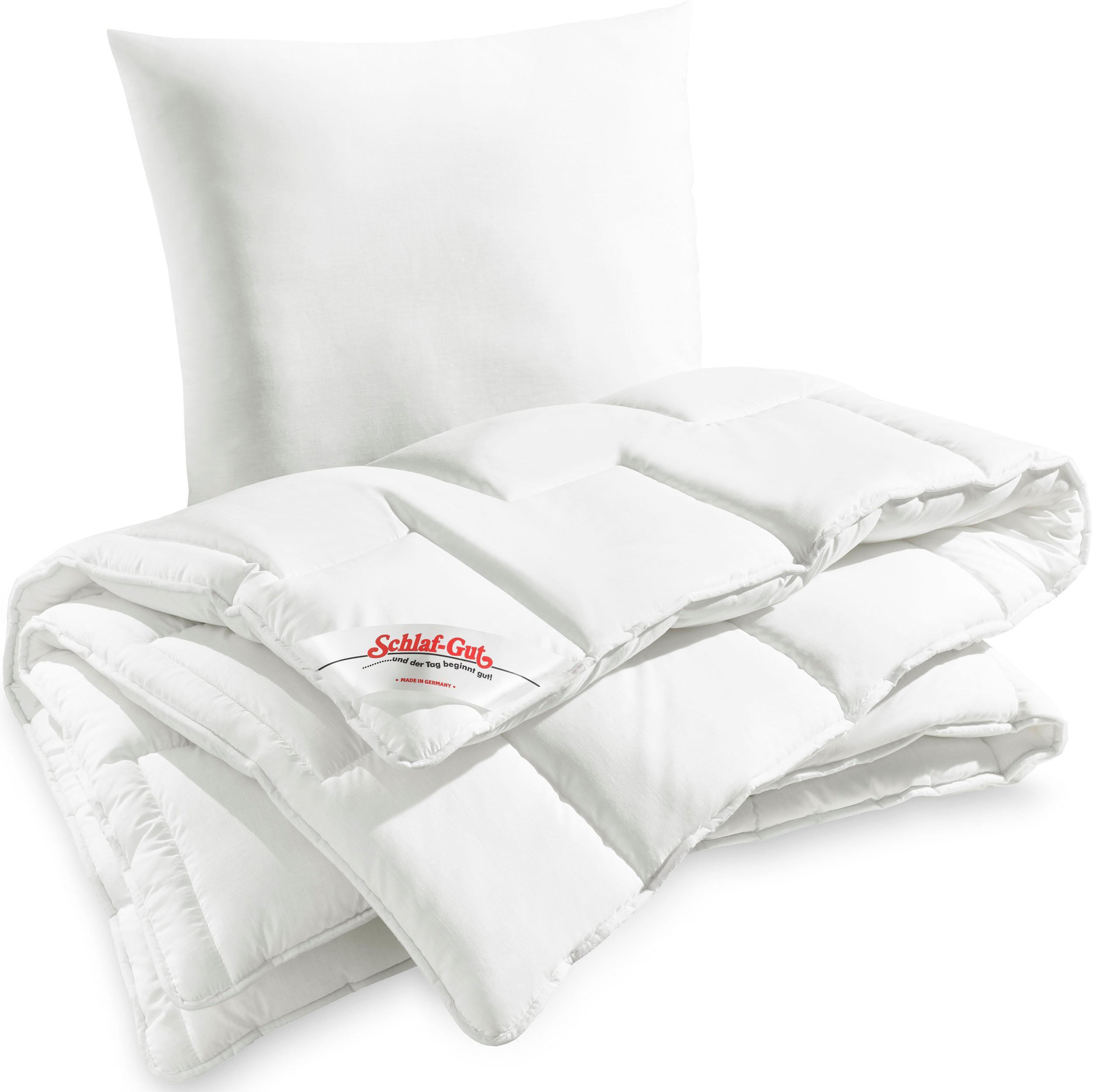 Bettdecke + Kopfkissen Utah Schlaf-Gut normal Füllung: Schlaf-Gut Polytherm