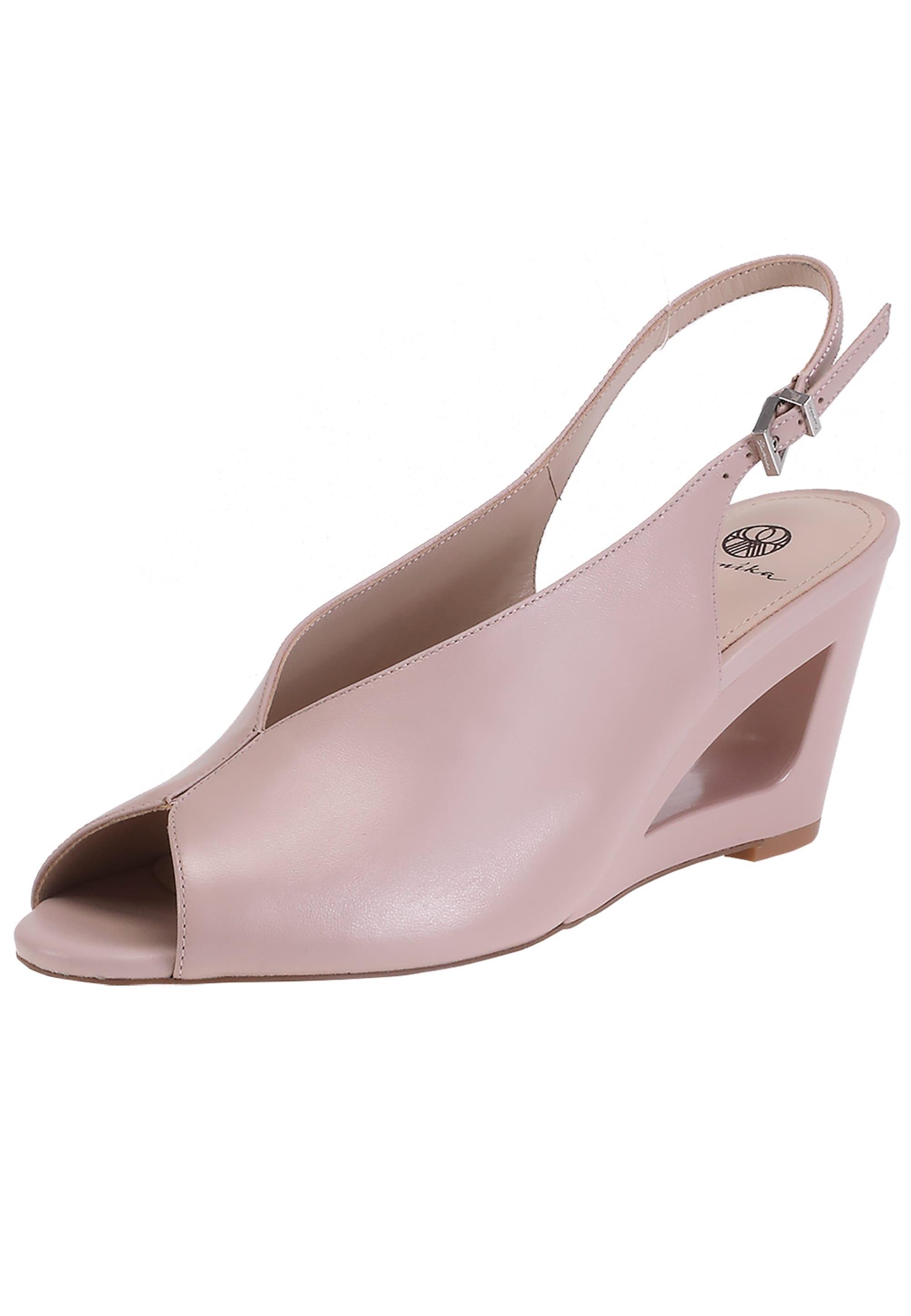 ekonika -  Sandale, aus glattem Leder