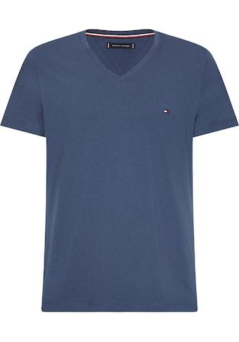 TOMMY HILFIGER T - Shirt »STRETCH SLIM FIT VNECK TEE« kaufen