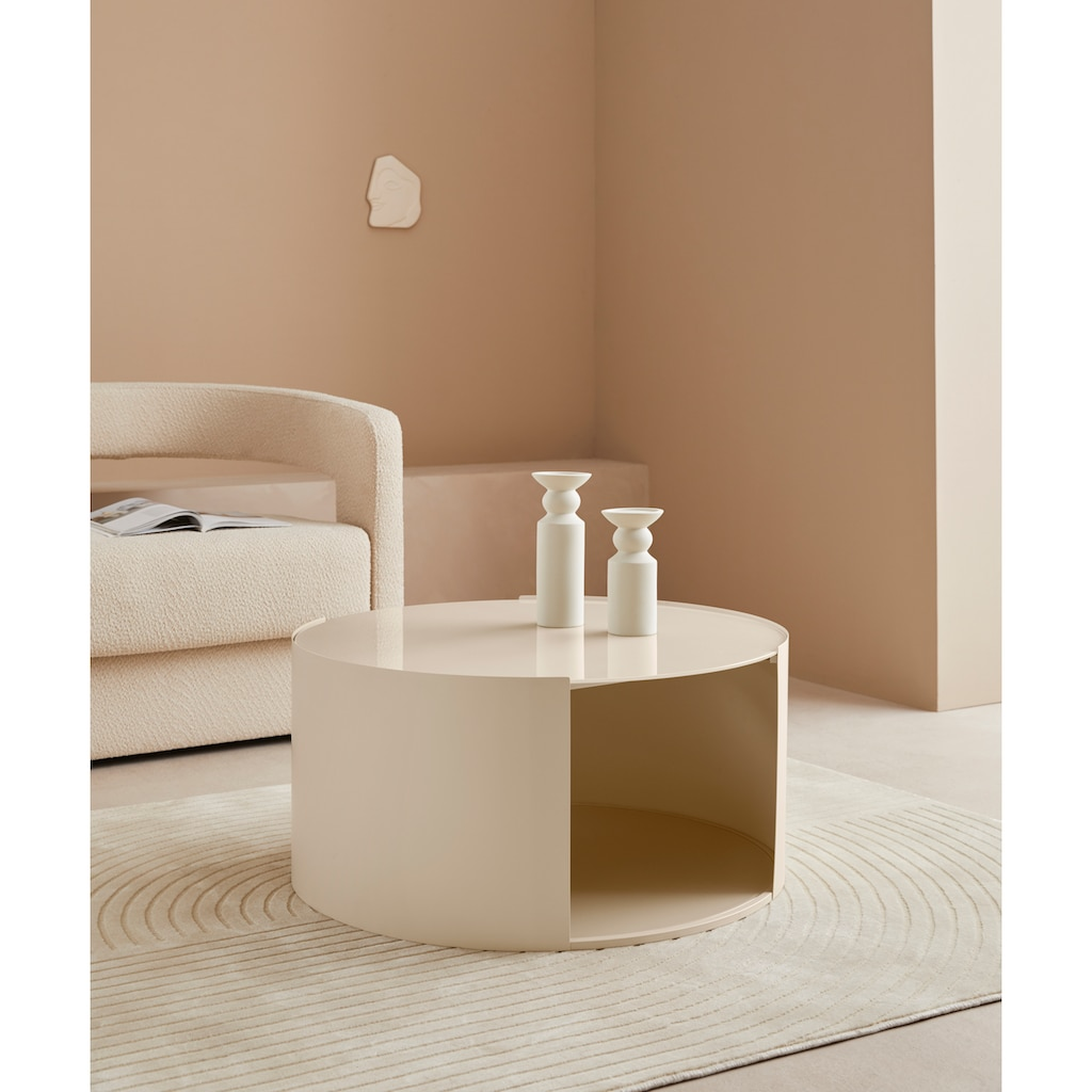 LeGer Home by Lena Gercke Couchtisch »Ivy«, rund, 0,6 cm starke Tischplatte, offenes Fach