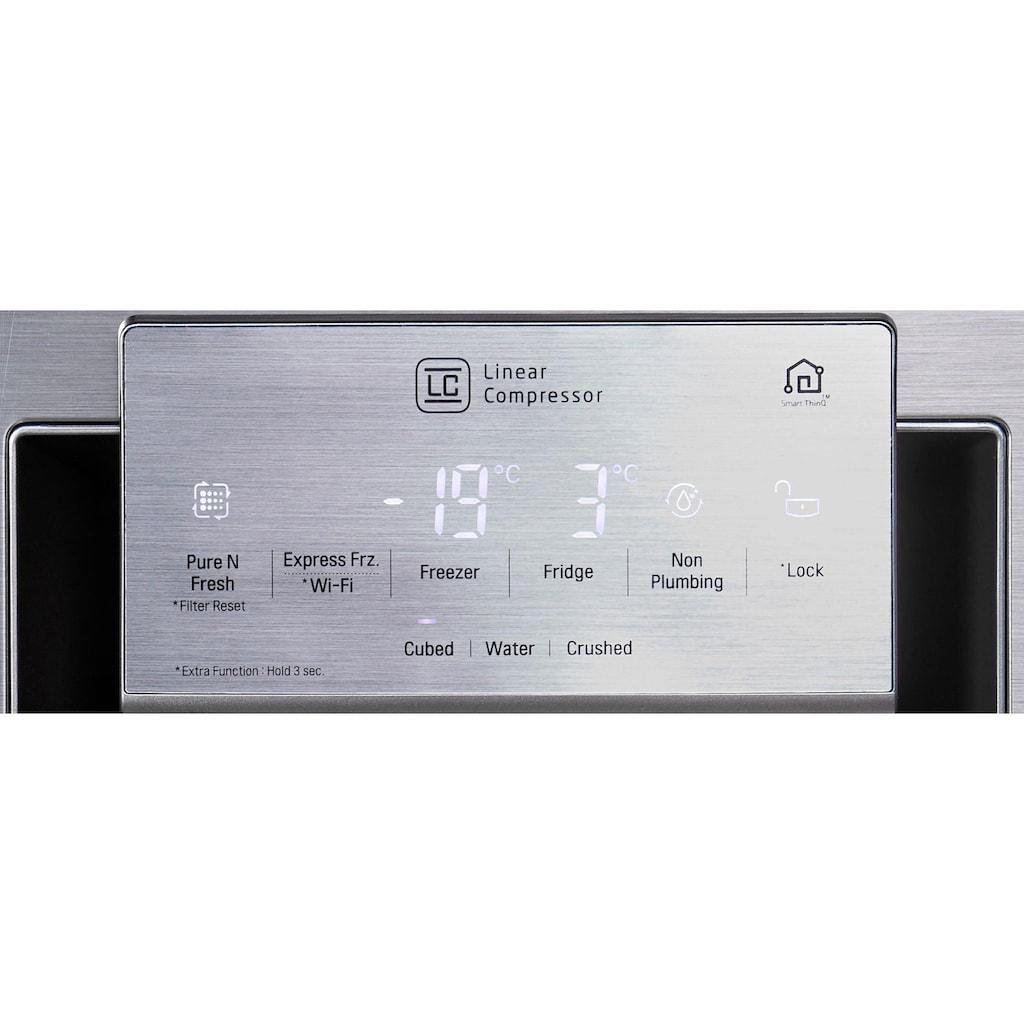 LG Side-by-Side »GSI961PZAZ«, GSI961PZAZ, 179 cm hoch, 91,2 cm breit, InstaView Door-in-Door™