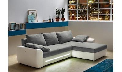 Jockenhöfer Gruppe Ecksofa, inklusive LED-Beleuchtung, mit Bettfunktion und... kaufen