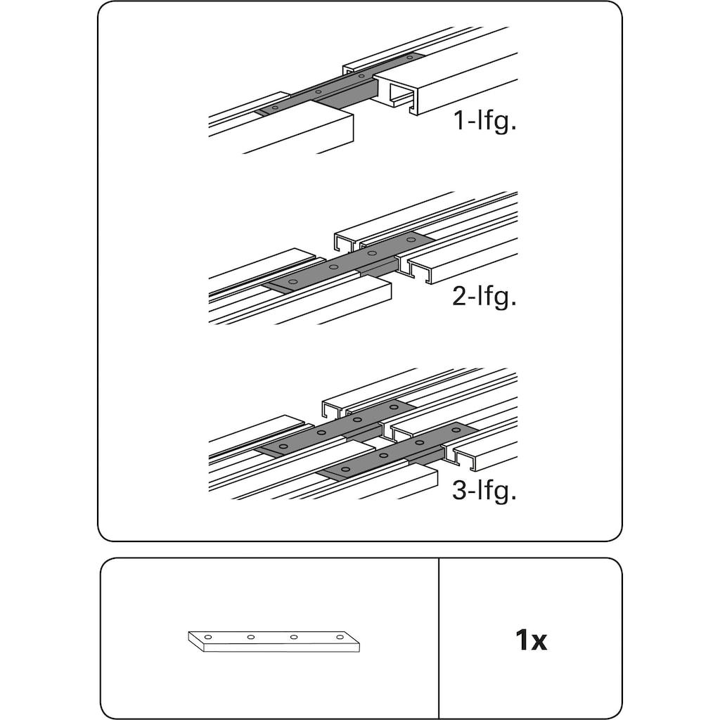 GARDINIA Gardinenstangenhalter »Schienenverbinder«, Serie Aluminium-Vorhangschiene