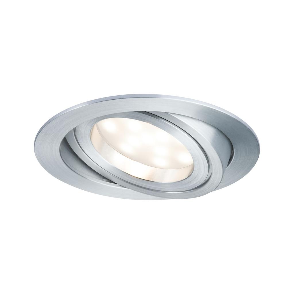 Paulmann LED Einbaustrahler »1er-Set Coin schwenkbar und dimmbar satiniert rund 7W Alu«, 1 St., Warmweiß