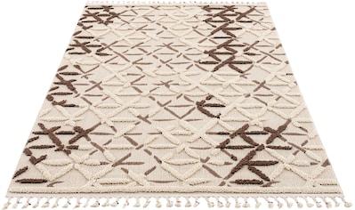 andas Teppich »Tabea«, rechteckig, 18 mm Höhe, Woll-Look, Wohnzimmer kaufen