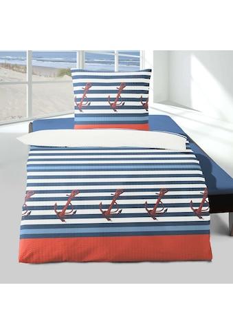 TRAUMSCHLAF Bettwäsche »Anker«, leichte Seersucker Qualität kaufen