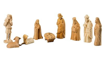 HGD Holz - Glas - Design Figurenset Christi Geburt handgeschnitzt, 9teilig kaufen